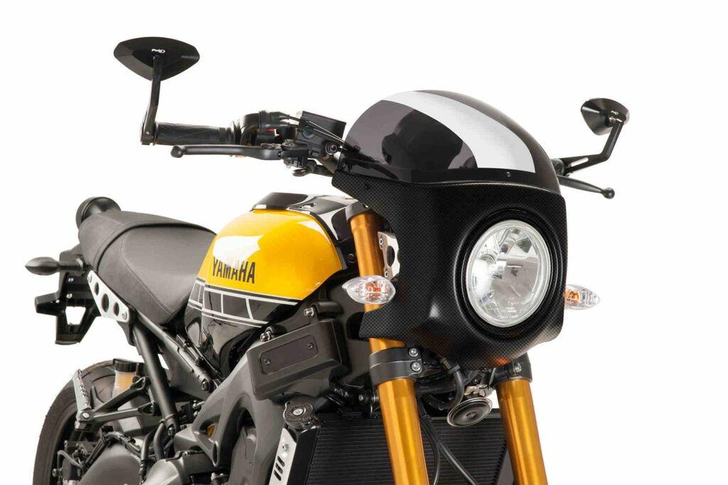 Obrázek produktu Plexi štít PUIG SEMI-FAIRING karbonový vzhled tmavá kouřová 9188F
