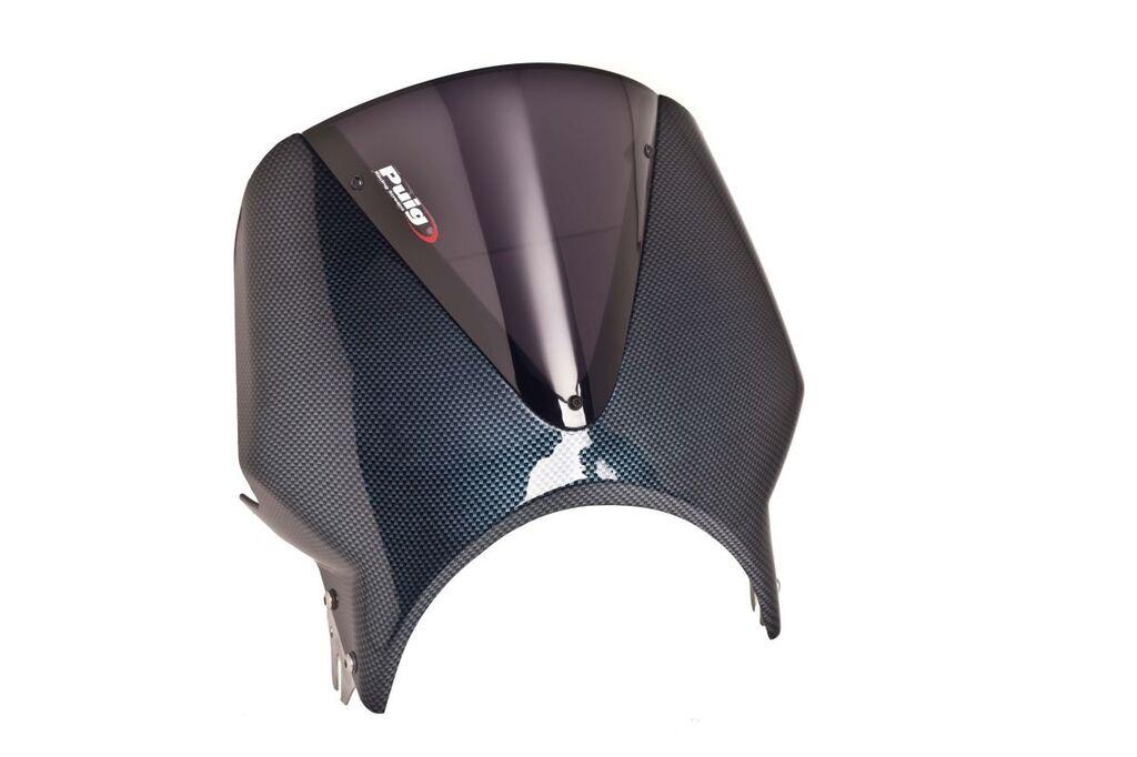 Obrázek produktu Plexi štít PUIG RETROVISIONS karbonový vzhled tmavá kouřová 003CF