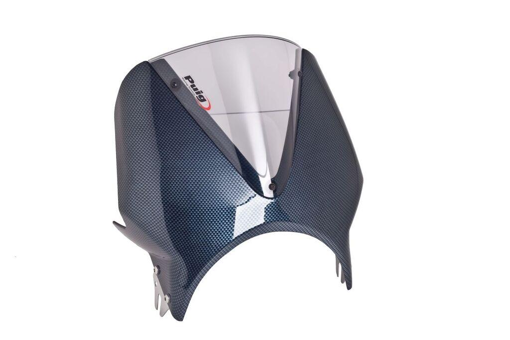 Obrázek produktu Plexi štít PUIG RETROVISIONS karbonový vzhled kouřová