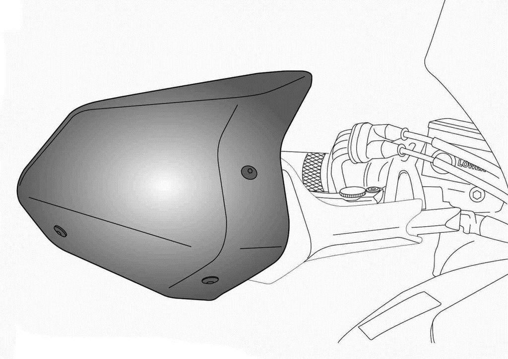 Obrázek produktu Chrániče páček PUIG EXTENSION černý 8547N