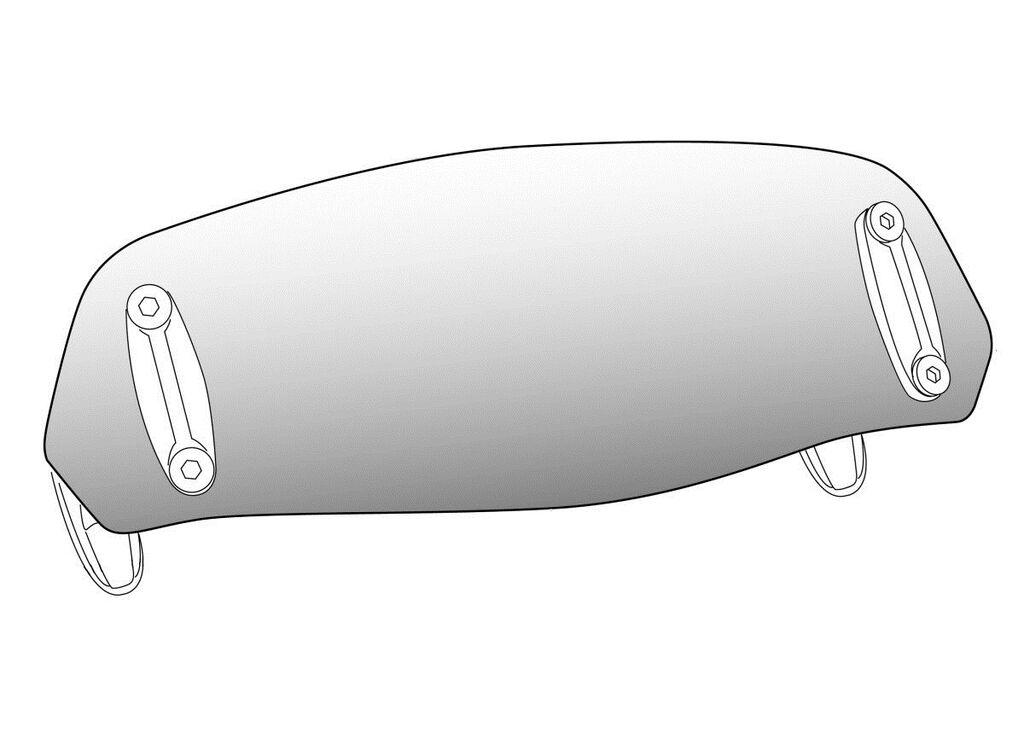Obrázek produktu Přídavné plexi nastavitelné PUIG připevnění pomocí šroubů kouřová