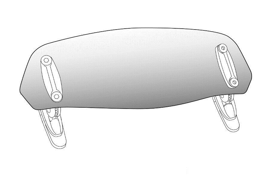 Náhradní plexi PUIG připevnění pomocí šroubů průhledný