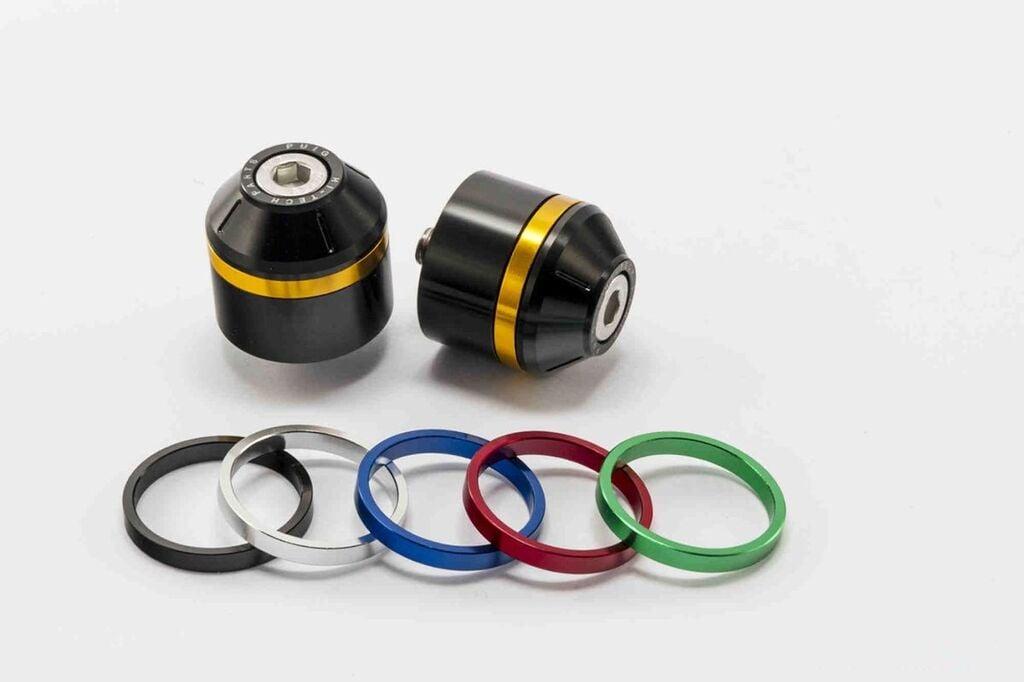 Obrázek produktu Závažíčka řidítek PUIG SHORT WITH RING včetně barevných kroužků