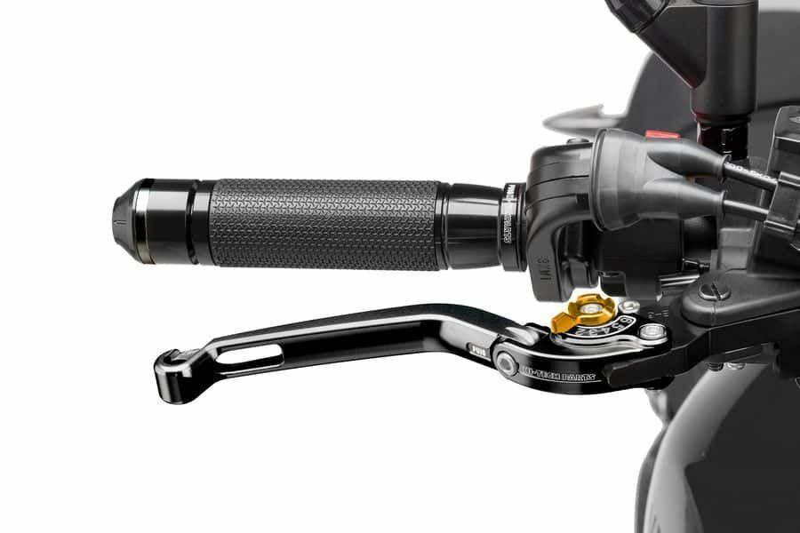 Obrázek produktu Páčka brzdy bez adaptéru PUIG skládací černá/zlatá Zadní brzda