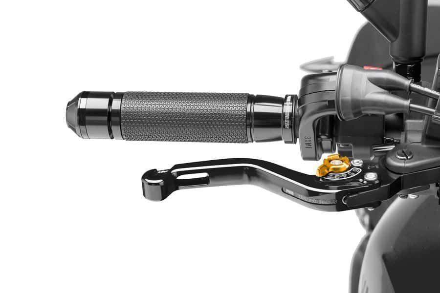Obrázek produktu Páčka brzdy bez adaptéru PUIG krátké černá/zlatá Zadní brzda