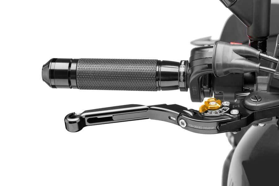 Obrázek produktu Páčka brzdy bez adaptéru PUIG rozšiřitelná skládací černá/zlatá Zadní brzda