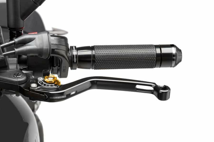 Obrázek produktu Páčka spojky bez adaptéru PUIG dlouhé černá/zlatá Přední brzda