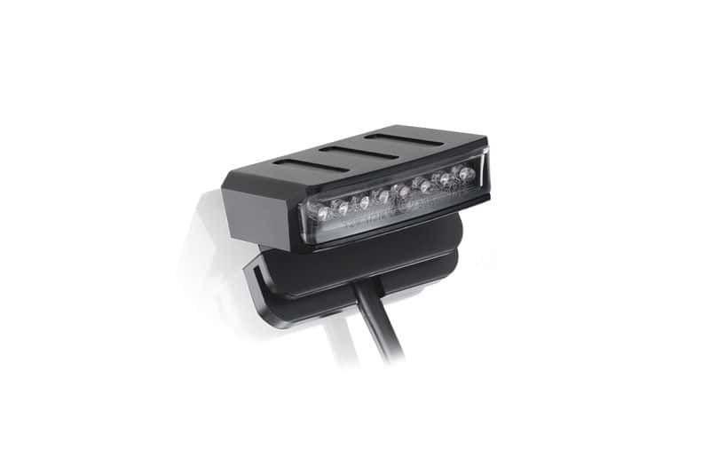 Obrázek produktu Zadní brzdové světlo PUIG FURK (40 x 40 mm) čiré sklíčko s osvětlením SPZ 9150N