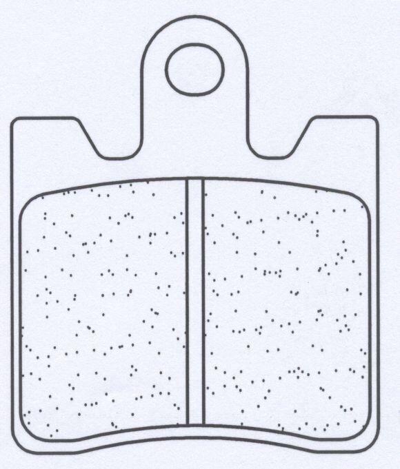 Obrázek produktu Brzdové destičky CL BRAKES XBK5 (2ks v sadě)