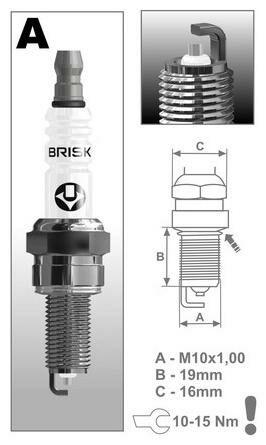 Obrázek produktu zapalovací svíčka AR12YS řada Silver, BRISK - Česká Republika