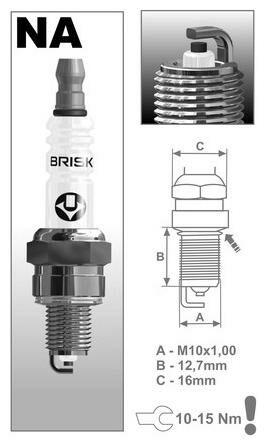 Obrázek produktu zapalovací svíčka NAR14YC řada Super, BRISK - Česká Republika