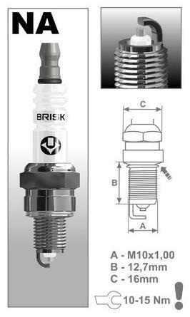 Obrázek produktu zapalovací svíčka NAR14YS řada Silver Racing, BRISK - Česká Republika