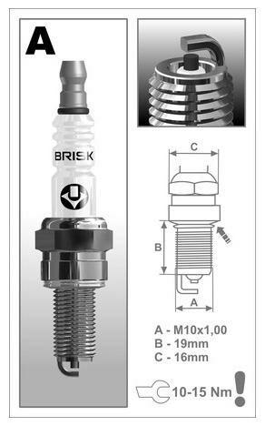 Obrázek produktu zapalovací svíčka AR10C řada Super, BRISK - Česká Republika