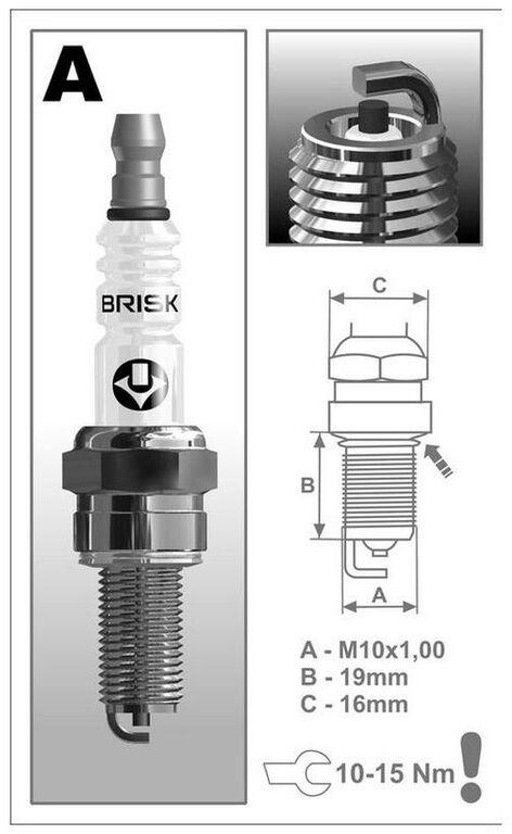 Obrázek produktu zapalovací svíčka AR12C BRISK - Česká Republika 1943