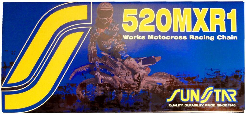 Obrázek produktu řetěz 520MXR1, SUNSTAR (bezkroužek, barva zlatá, 116 článků)