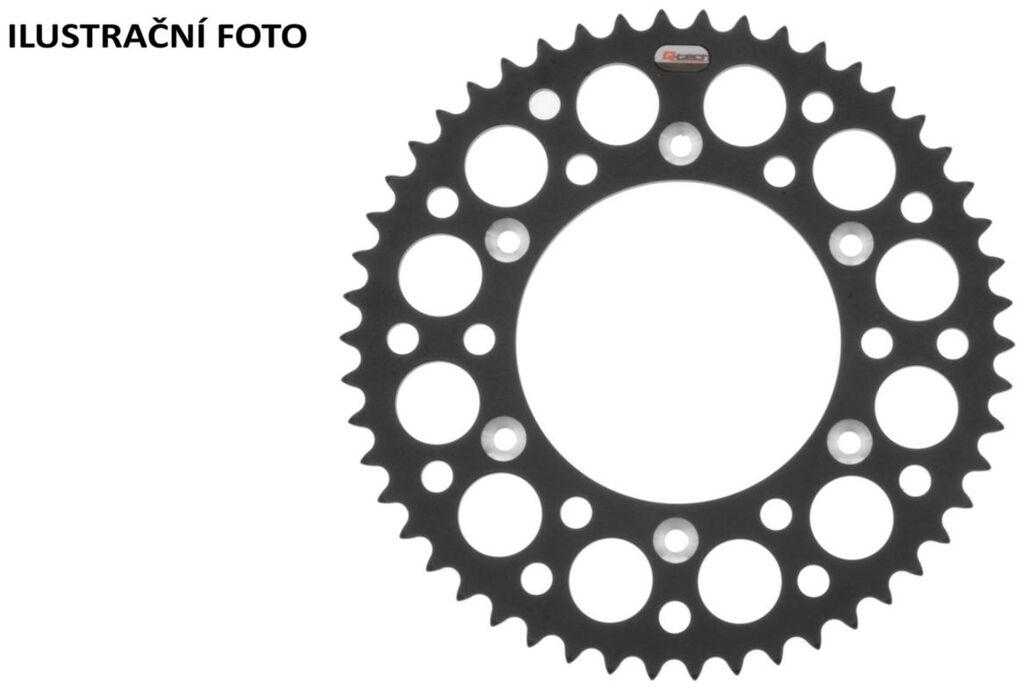 Obrázek produktu duralová rozeta pro sekundární řetězy typu 520, Q-TECH (černý elox, 50 zubů)