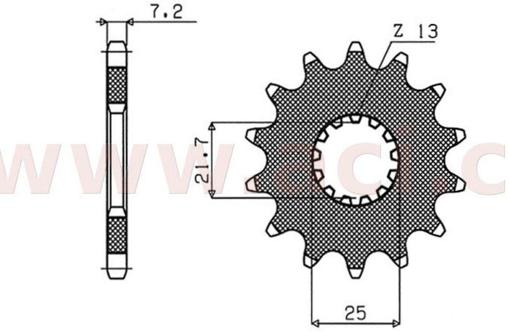 Obrázek produktu řetězové kolečko pro sekundární řetězy typu 525, SUNSTAR (14 zubů)