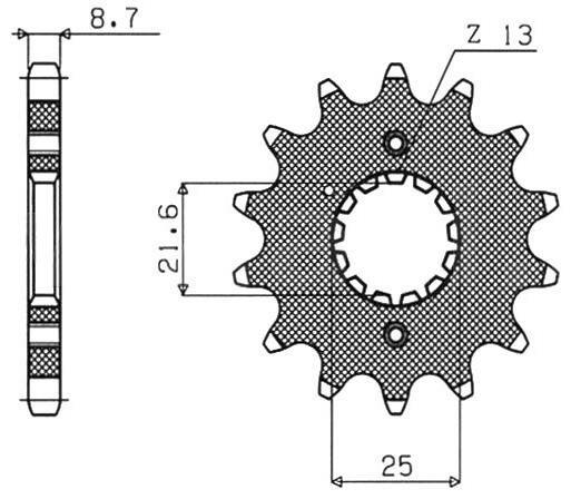 Obrázek produktu řetězové kolečko pro sekundární řetězy typu 530, SUNSTAR (14 zubů)