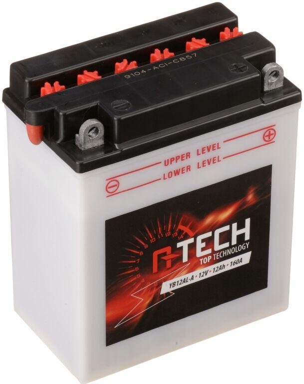 Obrázek produktu baterie 12V, YB12AL-A, CB12AL-A2, 12Ah, 160A, konvenční 134x80x160, A-TECH (vč. balení elektrolytu)