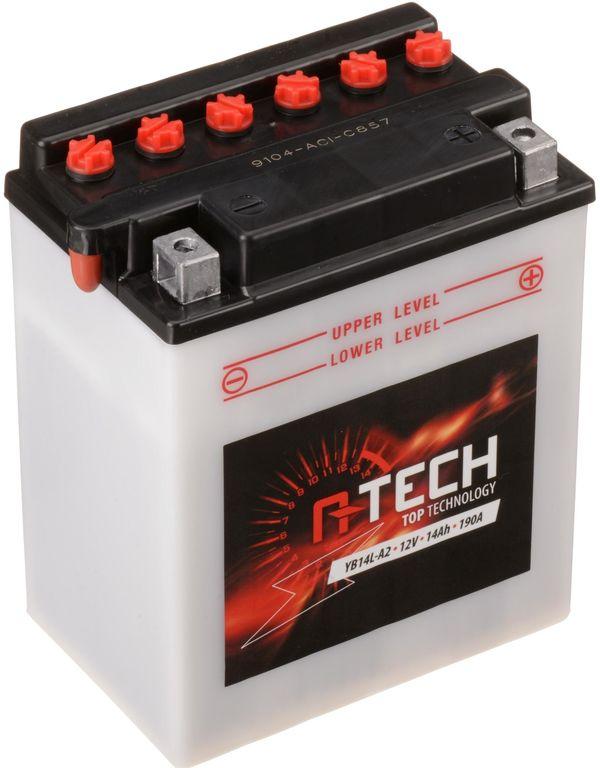 Obrázek produktu baterie 12V, YB14L-A2, 14Ah, 190A, konvenční 134x89x166 A-TECH (vč. balení elektrolytu)