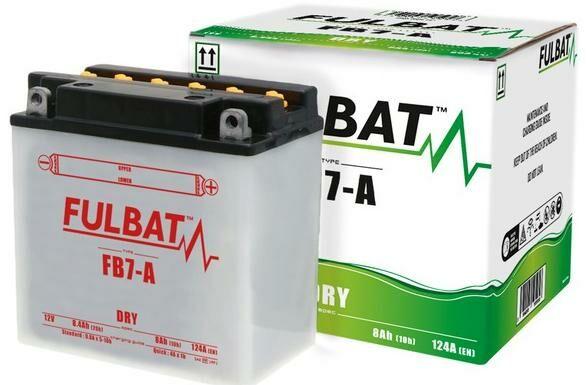 Obrázek produktu baterie 12V, FB7-A, 8Ah, 124A, konvenční 135(145)x75x133 FULBAT(vč. balení elektrolytu)