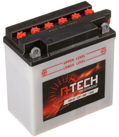 Obrázek produktu baterie 12V, YB9-B, 9Ah, 130A, konvenční 135x75x139 A-TECH (vč. balení elektrolytu)