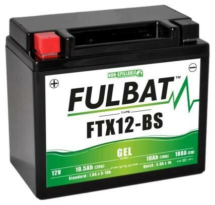 Obrázek produktu baterie 12V, FTX12-BS GEL, 10Ah, 180A, bezúdržbová GEL technologie 150x87x130 FULBAT (aktivovaná ve výrobě)
