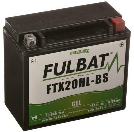 Obrázek produktu baterie 12V, YTX20L-BS, 18Ah, 270A, bezúdržbová GEL 175x87x155, FULBAT (aktivovaná ve výrobě)