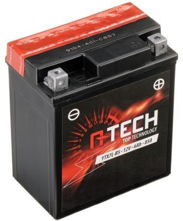 Obrázek produktu baterie 12V, YTX7L-BS, 6Ah, 85A, bezúdržbová MF AGM 114x71x134, A-TECH (vč. balení elektrolytu)