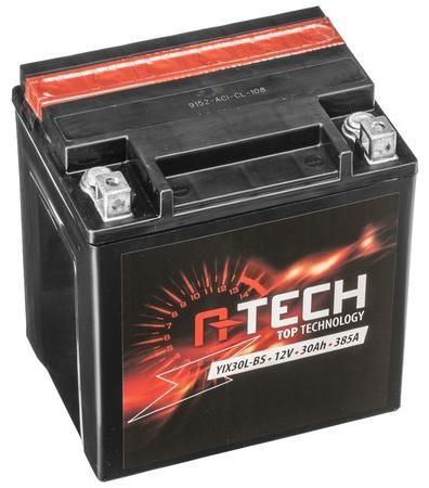 Obrázek produktu baterie 12V, FIX30 l-BS, 31,5Ah, 385A, bezúdržbová MF AGM 166x126x175, A-TECH (vč. balení elektrolytu) 550631
