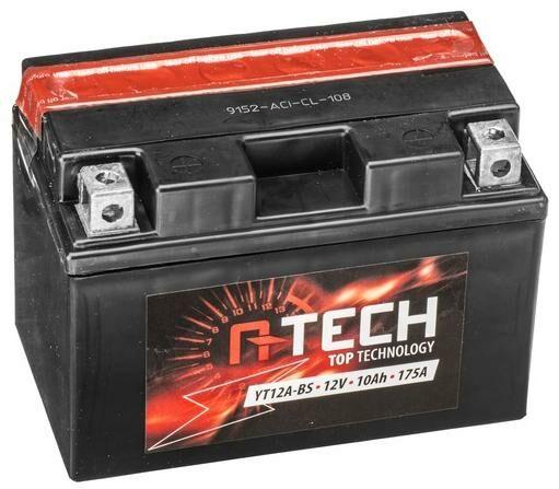 Obrázek produktu baterie 12V, FT12A-BS, 10Ah, 175A, bezúdržbová MF AGM 150x87x105, A-TECH (vč. balení elektrolytu)