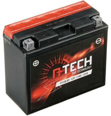Obrázek produktu baterie 12V, YT12B-BS, 11Ah, 125A, bezúdržbová MF AGM 151x70x130, A-TECH (vč. balení elektrolytu)