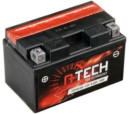 Obrázek produktu baterie 12V, YTZ10S-BS, 8,6Ah, 190A, bezúdržbová MF AGM 150x87x93, A-TECH (vč. balení elektrolytu)