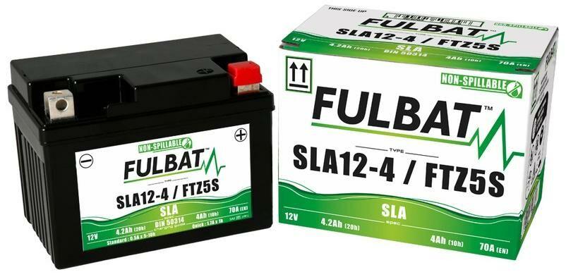 Obrázek produktu baterie 12V, FTZ5S, 4Ah, 70A, bezúdržbová MF AGM 113x70x85, FULBAT (aktivovaná ve výrobě)