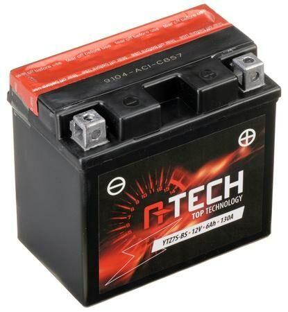 Obrázek produktu baterie 12V, YTZ7S-BS, 6Ah, 130A, bezúdržbová MF AGM 113x70x105, A-TECH (vč. balení elektrolytu)