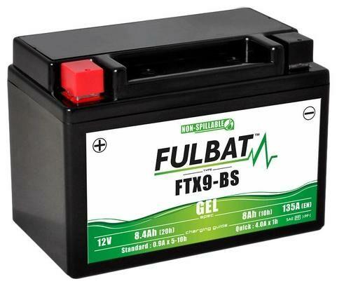 Obrázek produktu baterie 12V, FTX9-BS GEL, 8,4Ah, 135A, bezúdržbová GEL technologie 150x87x105, FULBAT (aktivovaná ve výrobě)