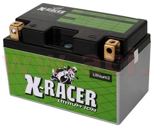 Obrázek produktu lithiová baterie 3 X-RACER  12V, 18Ah, 240A, hmotnost 0.9kg, 150x87x93mm nahrazuje typy: (CTZ10S-BS) UNIBAT