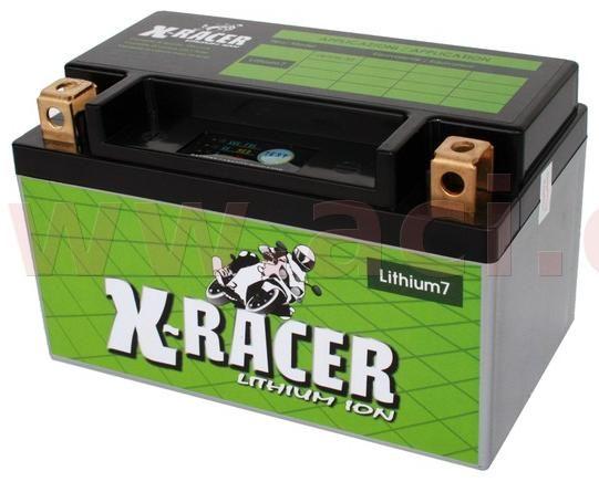 Obrázek produktu lithiová baterie 7 X-RACER  12V, 10Ah, 130A, hmotnost 0.5kg, 150x87x93mm nahrazuje typy: (CBTX7A-BS) UNIBAT