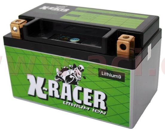Obrázek produktu lithiová baterie 9 X-RACER  12V, 18Ah, 210A, hmotnost 0.9kg, 150x87x93mm nahrazuje typy: (CBTX12-BS, CT12A-BS, CB12B-B2) UNIBAT