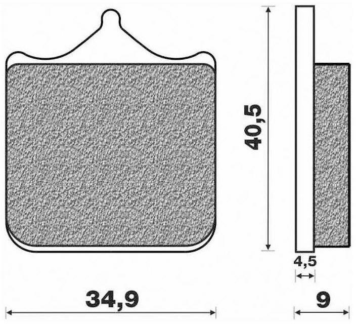 Obrázek produktu brzdové destičky (směs ST sintered metal S2) NEWFREN (4 ks v balení)