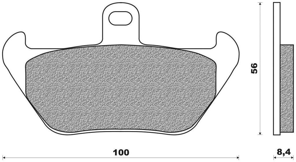 Obrázek produktu brzdové destičky (směs ST sintered metal S2) NEWFREN (2 ks v balení)