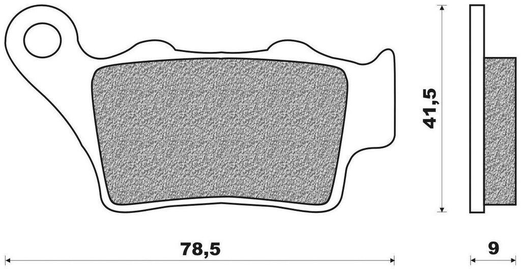 brzdové destičky (směs OFF ROAD DIRT RACE SINTERED) NEWFREN (2 ks v balení) HUSQVARNA SM 510 R i.e. 2010-2010