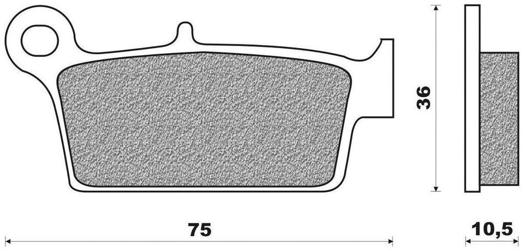 brzdové destičky (směs OFF ROAD DIRT SINTERED) NEWFREN (2 ks v balení) HONDA XR 650 L 2014-1993