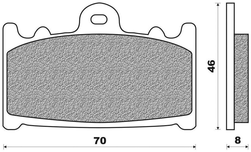 Obrázek produktu brzdové destičky (směs ROAD TT PRO SINTERED) NEWFREN (2 ks v balení)