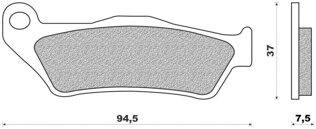 Obrázek produktu brzdové destičky (směs OFF ROAD DIRT RACE SINTERED) NEWFREN (2 ks v balení)