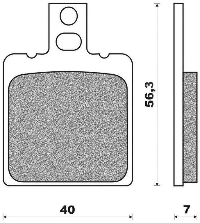 Obrázek produktu brzdové destičky (směs ROAD TT PRO ORGANIC) NEWFREN (2 ks v balení)