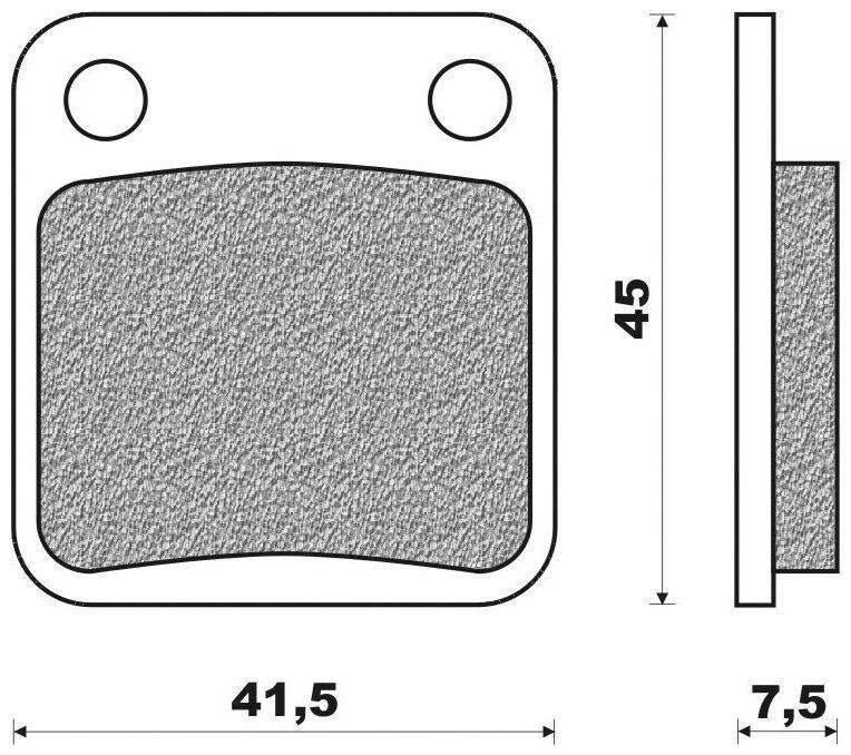 Obrázek produktu brzdové destičky (směs OFF ROAD ATV ORGANIC) NEWFREN (2 ks v balení)