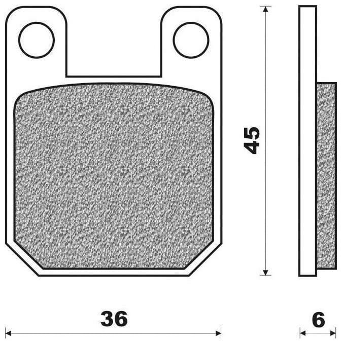 brzdové destičky (směs OFF ROAD DIRT ORGANIC) NEWFREN (2 ks v balení) PEUGEOT XP6 50 Enduro 2008-2011