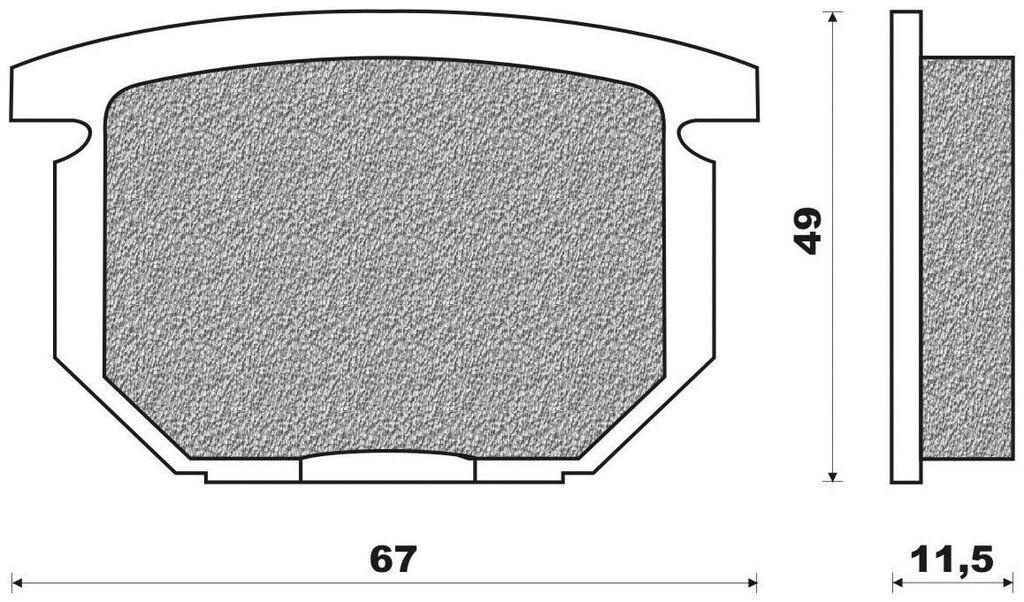 Obrázek produktu brzdové destičky (směs ROAD TOURING SINTERED) NEWFREN (2 ks v balení)