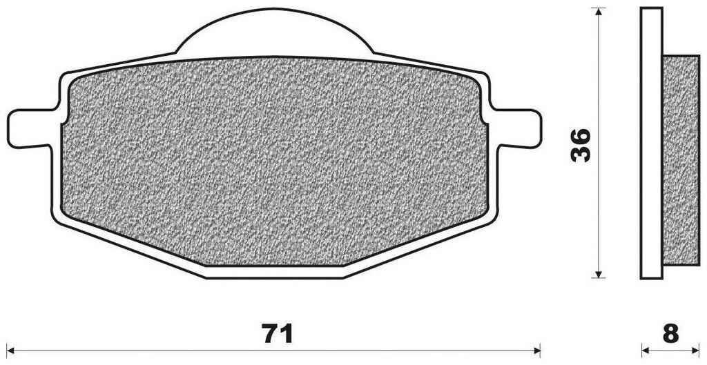 Obrázek produktu brzdové destičky (směs OFF ROAD DIRT ORGANIC) NEWFREN (2 ks v balení)